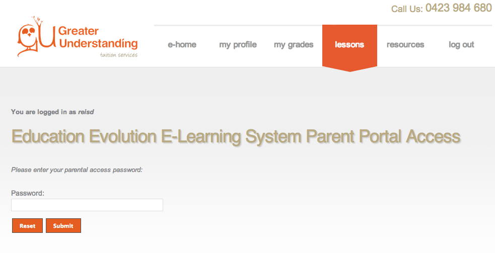 Greater Understanding Parent Portal